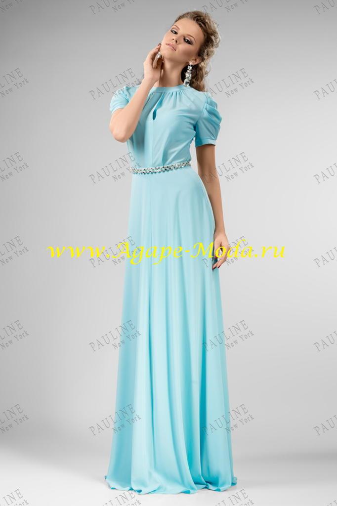 Купить Голубое Платье Длинное